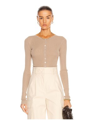 LEMAIRE knitted second skin buttoned top