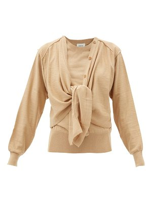 LEMAIRE knot-front merino wool-blend cardigan