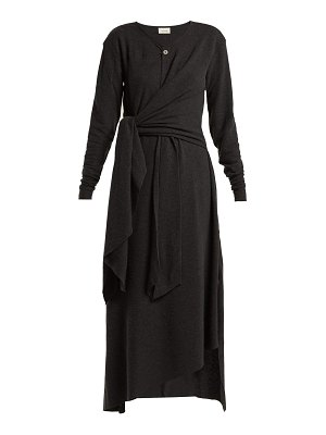LEMAIRE Knotted wool-blend midi dress