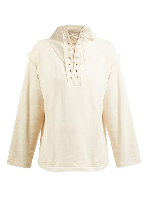 LEMAIRE lace up organic cotton sweatshirt