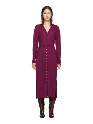 LEMAIRE pink cardigan dress
