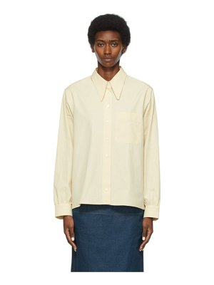 LEMAIRE ssense exclusive beige pointed collar shirt