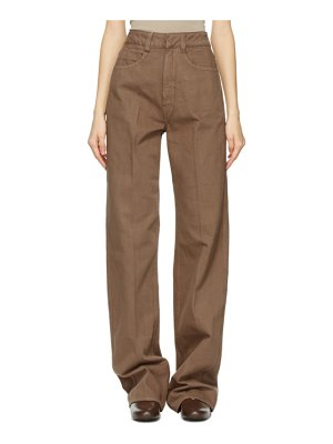 LEMAIRE ssense exclusive brown garment-dyed jeans