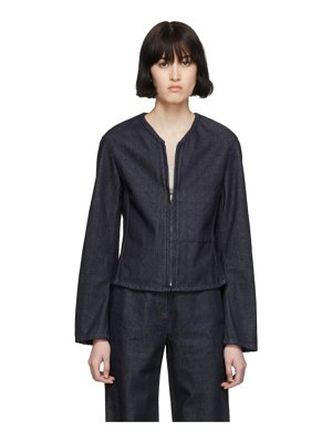 LEMAIRE ssense exclusive navy fitted zip jacket
