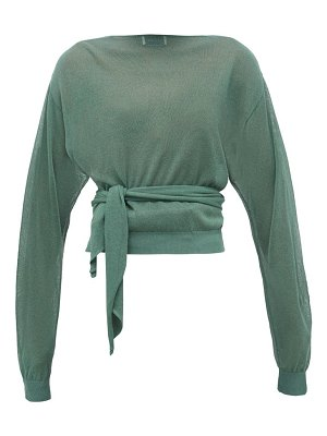 LEMAIRE tie-waist wrap sweater