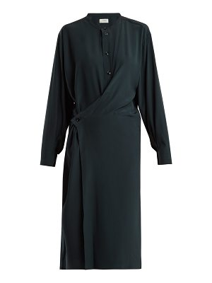 LEMAIRE Twisted-front silk dress