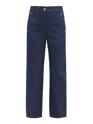 LEMAIRE twisted high rise wide leg jeans