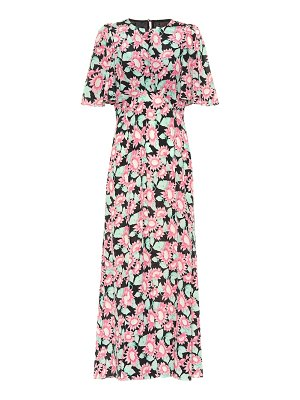 Les Rêveries floral silk maxi dress
