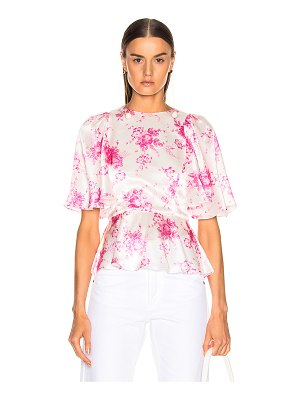 Les Reveries petal sleeve open back top