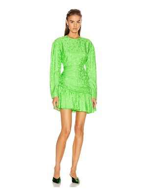 Les Reveries ruched long sleeve fairy dress