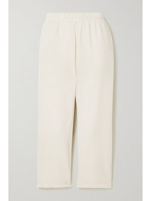 Les Tien frayed cotton-jersey track pants
