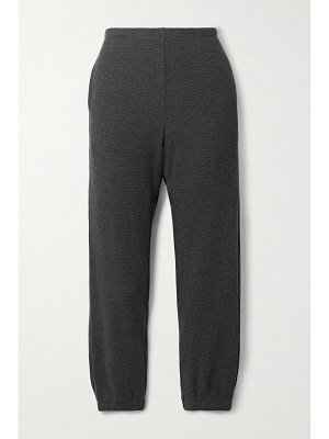 Leset willow brushed waffle-knit track pants