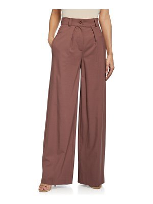 LESYANEBO High-Waist Pleated Trousers