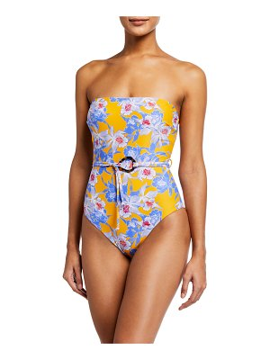 Letarte Formentera Floral One-Piece Belted Swimsuit