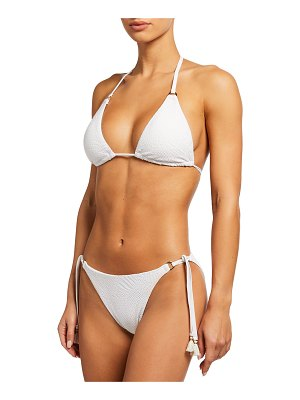 Letarte Malibu Palm Lace Triangle Bikini Top
