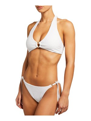 Letarte Nantucket Palm Lace Ring Bikini Top