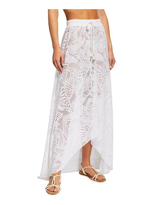 Letarte Newport Embroidered Lace Coverup Skirt