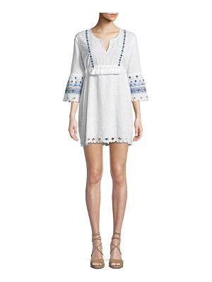 Letarte Ocean View Embroidered Coverup Dress