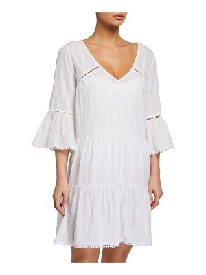 Letarte Ponza Embroidered Coverup