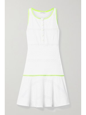 L'Etoile Sport stretch-jersey and pointelle-knit tennis dress