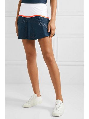 L'Etoile Sport stretch-jersey and pointelle-knit tennis skirt