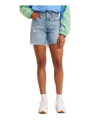Levi's 501 high waist mid thigh cutoff denim shorts