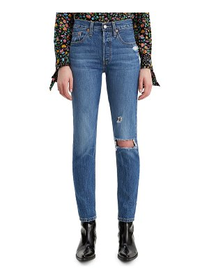 Levi's 501 ripped high waist ankle skinny jeans