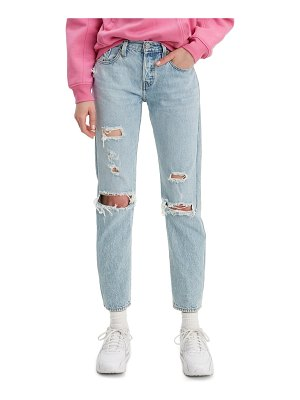 Levi's 501 ripped tapered leg jeans
