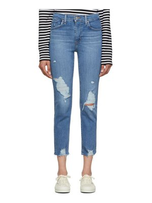 Levis blue 724 high-rise straight crop jeans