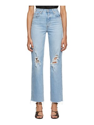 Levis blue ribcage straight jeans