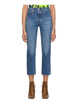 Levis blue straight wedgie jeans