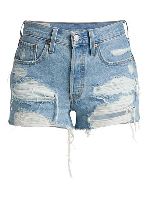 Levi's distressed high-rise shorts