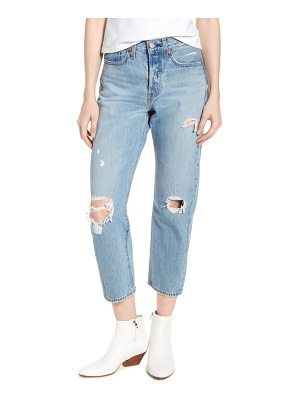 Levi's wedgie ripped straight leg jeans