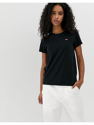 Levi's perfect white t shirt with chest logo in black