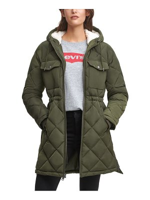 Levi's puffer jacket with fleece lined hood