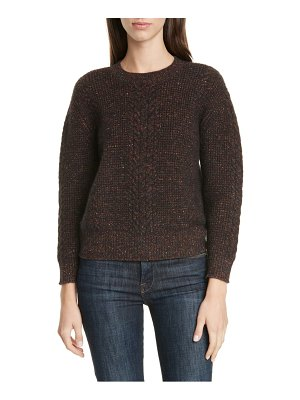 LEWIT speckle cable sweater