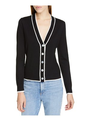 LEWIT tipped v-neck cardigan