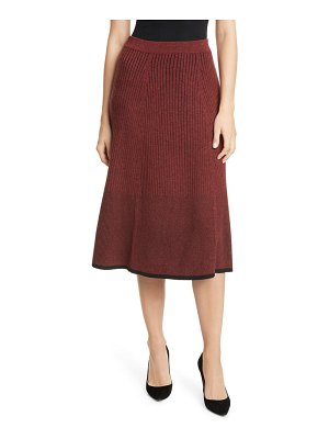 LEWIT two-tone sweater skirt