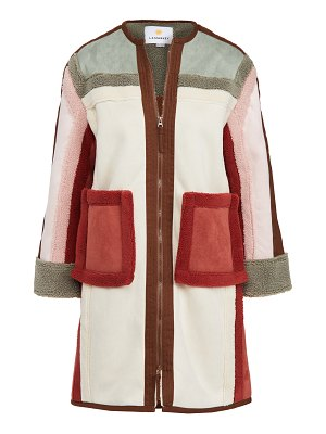 L.F. Markey heath colorblocked coat