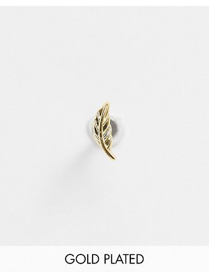 Liars & Lovers feather single labret earring in gold plate