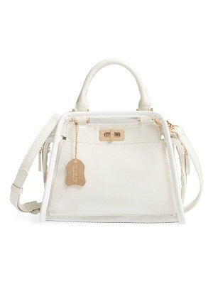 LIKE DREAMS convertible faux leather satchel