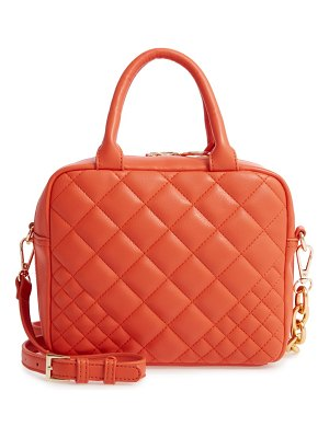 LIKE DREAMS quilted faux leather satchel