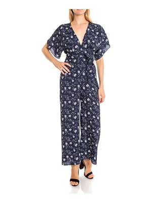 LIKELY Adelaide Short-Sleeve Floral Jumpsuit