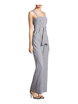 LIKELY Dahlia Gingham Crepe Jumpsuit