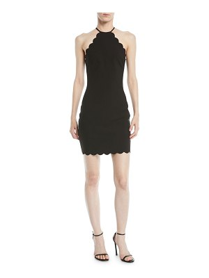LIKELY Everly Scalloped Halter Dress