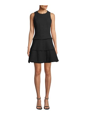 LIKELY Jewel Tiered Twill Fit-and-Flare Dress