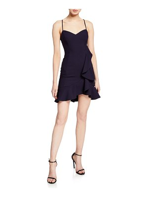 LIKELY Laverna Draped Ruffle Mini Dress