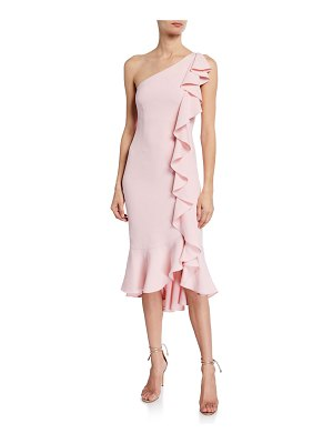 LIKELY Linette One-Shoulder Ruffle Cocktail Dress