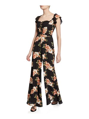 LIKELY Marlena Floral-Print Wide-Leg Jumpsuit