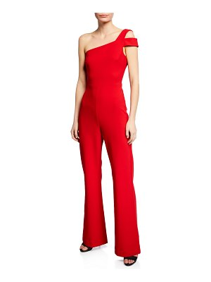 LIKELY Maxson One-Shoulder Crepe Jumpsuit